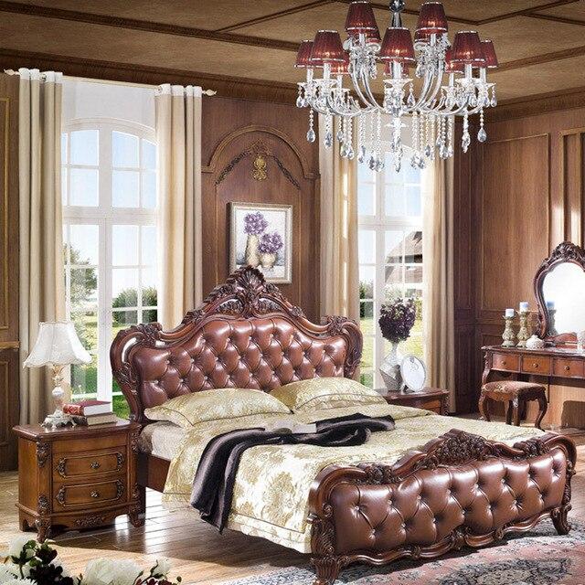Nuevo Estilo europeo Dormitorio Muebles De Madera Marcos de ...