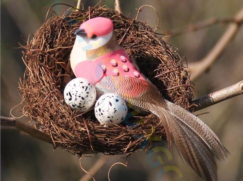 DIY Creative Creative Nature HandmadeTwig Vine Simulation Bird Nest Cage Home Garden Easter Festival Decoration Craft