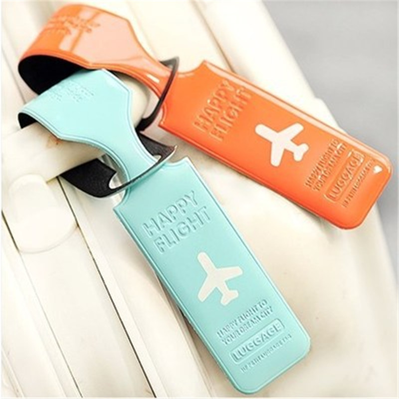 Travel PVC Luggage Tag Cover Bag Accessories Suitcase ID Address Holder Letter Baggage Boarding Tags Portable Label Dropshipping