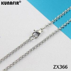 """Image 4 - 200 pz 14 """" 38"""" collana in acciaio inox 2.5mm rotonda rolo link catene parti di gioielli delle donne di modo ZX366"""