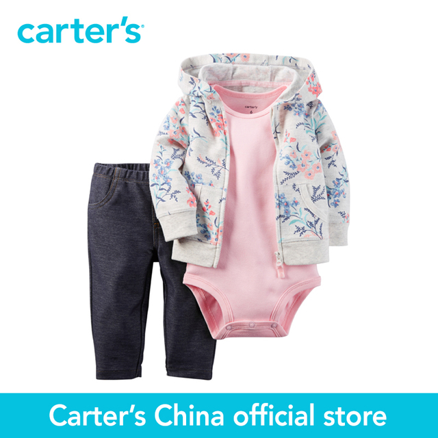 b5483f1a3 Carter's 3 pcs baby children kids Babysoft Cardigan Set 121G750, sold by  Carter's China official store