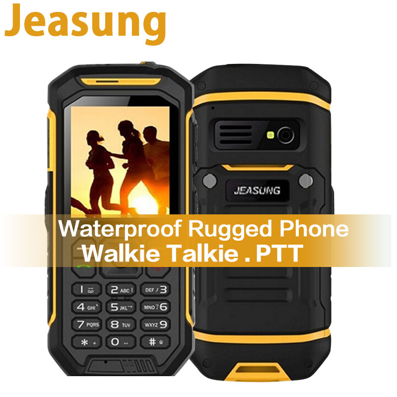 Russian Keyboard JEASUNG X6 UHF Walkie Talkie IP68 Rugged Mobile Phone waterproof 2500mah 2.4 Inch Dual SIM GSM card image