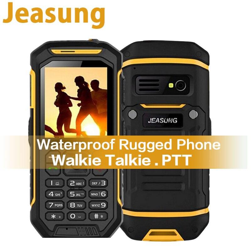 Teclado russa JEASUNG X6 UHF Walkie Talkie Acidentada Telefone Celular à prova d' água 2500 mah 2.4 Polegada IP68 Dual SIM cartão GSM