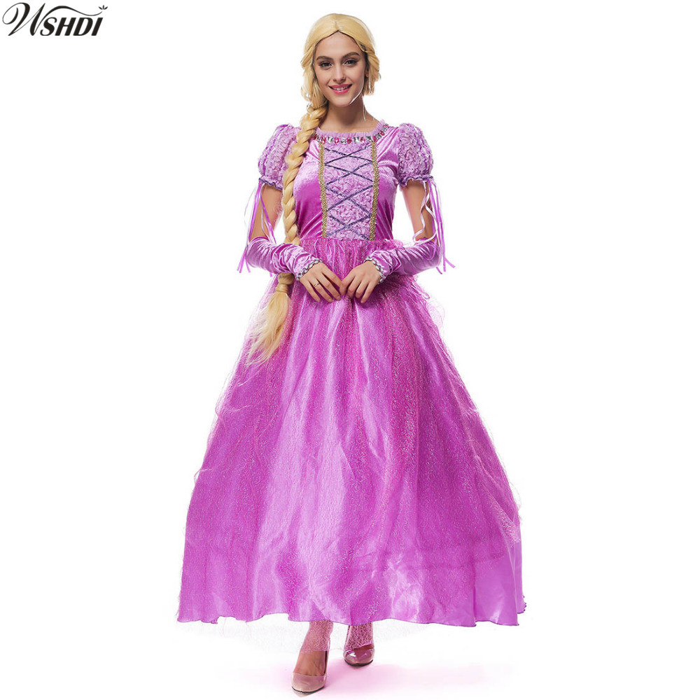 e8e95711c5c M XL High Quality Adult Renaissance Rapunzel Princess Costume For Women  Halloween Cosplay Party Fancy Long Dress-in Movie   TV costumes from  Novelty ...