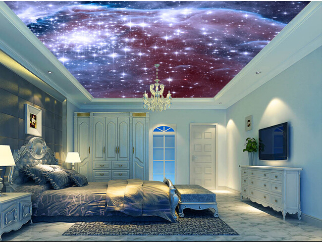 Custom universe wallpapers, cosmic star bedroom ceiling wall murals for  hotel KTV waterproof vinyl papel DE parede-in Wallpapers from Home  Improvement on ...