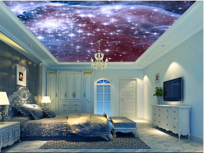 Custom Universe Wallpapers, Cosmic Star Bedroom Ceiling Wall Murals For Hotel KTV Waterproof Vinyl Papel DE Parede