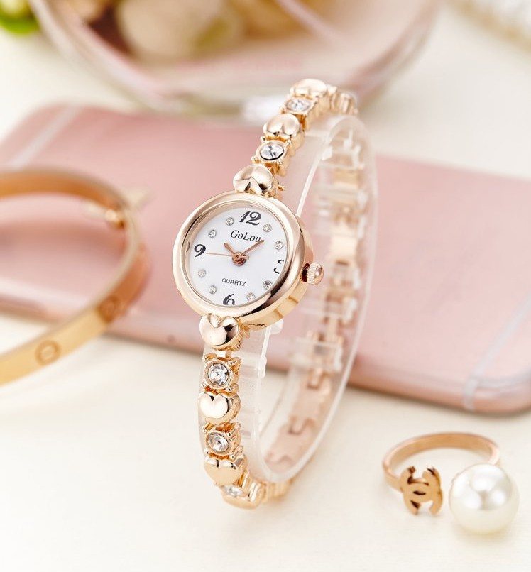 Fashion women watch with diamond gold watch ladies top luxur