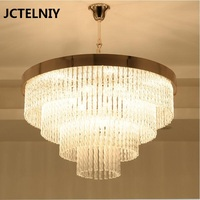 Crystal pendant light brief fashion circle crystal lamp art light
