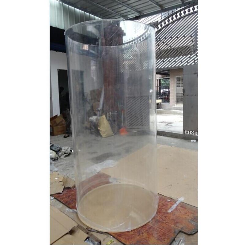 Grand Aquarium acrylique fait sur commande professionnel PMMA moulant la décoration transparente de réservoir d'eau de poisson de Lobby d'hôtel de Tube rond