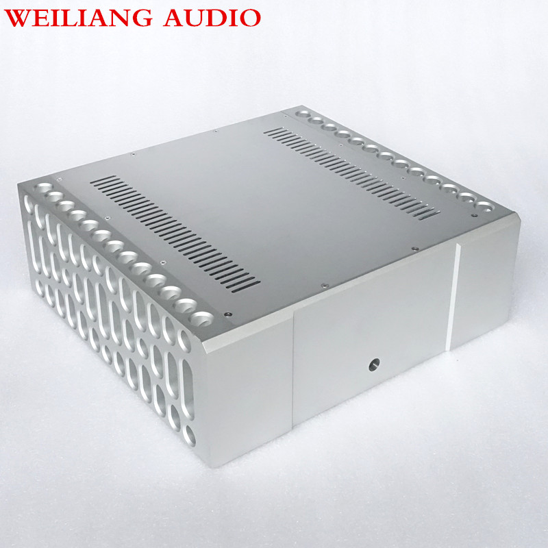 weiliang audio imitate BOLDER style elaborate processing CNC power amplifier aluminum chassis amp case weiliang auido