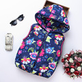 2017 Spring Girl Vests Jacket Kids Clothes Character Fashion Children Clothing Hooded Waistcoats Casual Baby Girls Vest Coats