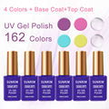 6pcs/lot 15ml Gel nail polish for nail art with base gel top coat soak-off gel polish UV/LED nail gel polish
