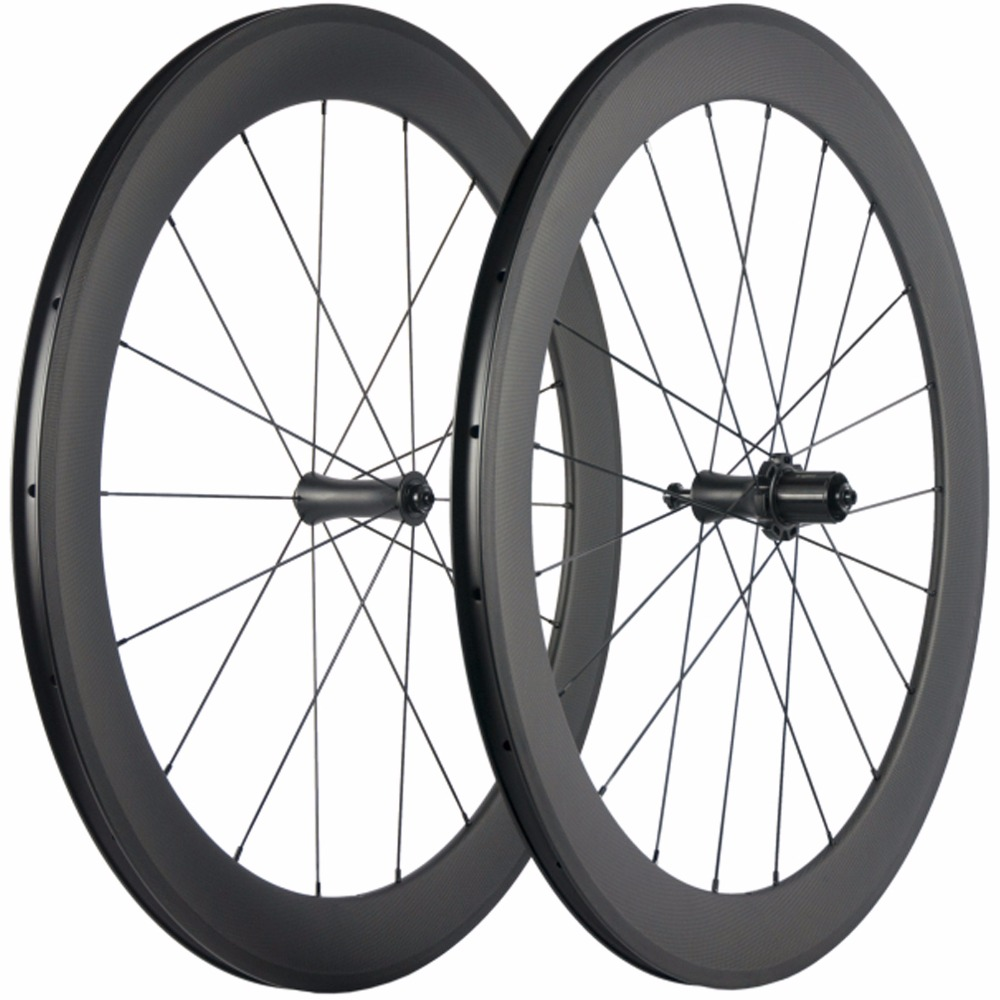 Super light Customized R7 Carbon Bicycle Wheelset 60mm depth Clincher Tubular Road Bike Wheels