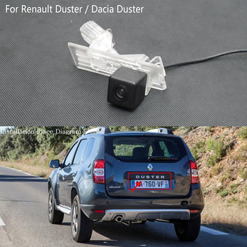 imágenes para Cámara Posterior del coche PARA Renault Duster/Dacia Duster/Marcha Atrás parque de La Cámara/Cámara de copia de seguridad/Luz de la Matrícula de Instalación