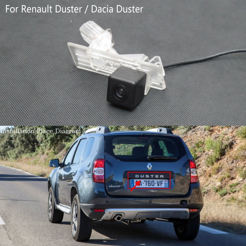 Lyudmila FOR Renault Duster   Dacia Duster   Reversing Rear View Camera   HD Back up Camera   License Plate Light Installation