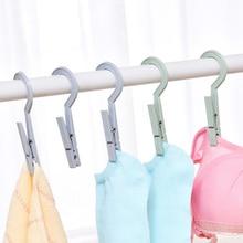 Hooks Peg Socks Clothes-Rails-Clips Hanging Plastic Portable Home 4pcs Underwear Drying-Rack