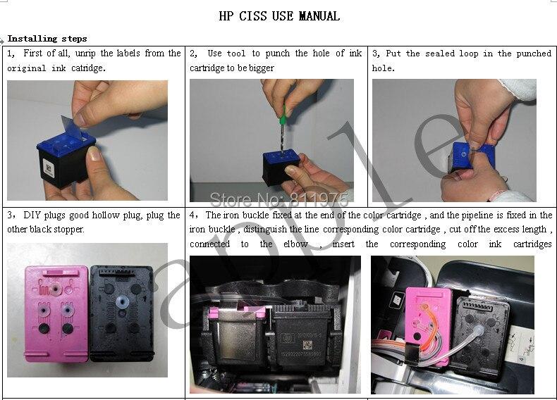Universal Kit DIY CISS Sistema de Abastecimento