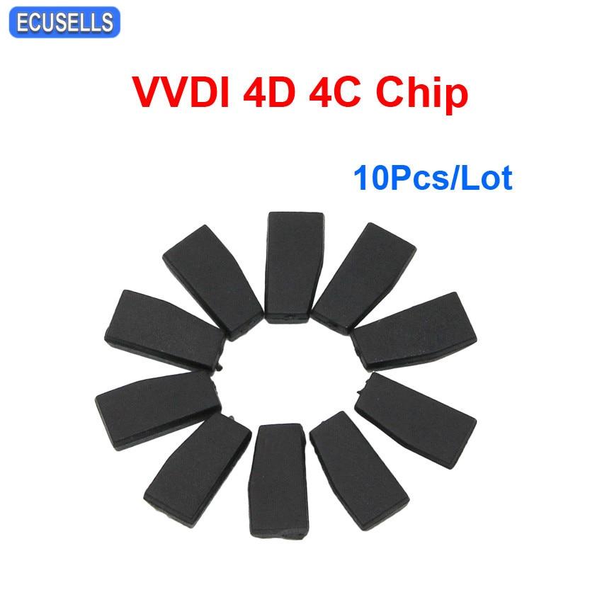 10 Pcs Lot Car Key Blank Transponder Chip 4D 4C Copy Chip for Xhorse VVDI Key