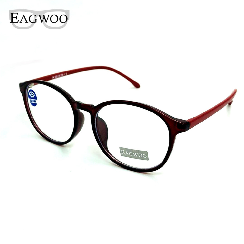 Eagwoo Blue Ray Block Glasses Full Rim Computer Work Eye Glasses Anti Reflection UV400 Eyeglasses Women Ligth Gl Optical Frame reflection