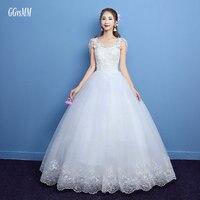 Vestidos De Novia Bride Formal White Wedding Gowns Long 2018 Wedding Dresses Ivory Plus Size Appliques