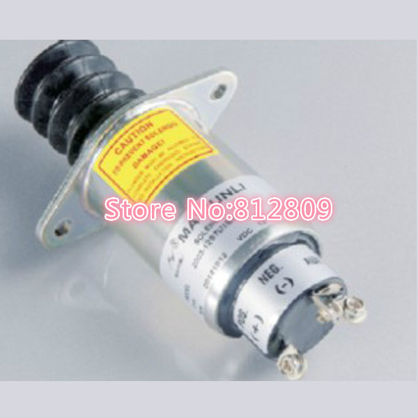 New Fuel Shut Off Solenoid SA-4752-12, 2003-12S7U1B2A ,12V with 3 Terminals 1 piece pneumatic fittings quick push in connector air fittings for 4mm 6mm 8mm 10mm 12mm tube hose straight fittings