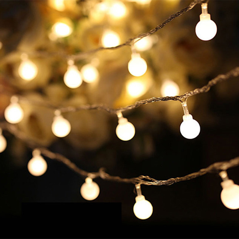Battery Operated String Lights Ac Moore : 2.5M led string lights 20 led ball AC220V holiday decoration lamp Festival Christmas lights ...