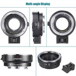 Image 4 - Andoer EF EOSM anneau adaptateur pour monture dobjectif pour objectif de la série Canon EF/EF S vers EOS M EF M M2 M3 M10 Support du corps de lappareil photo stabilité de limage