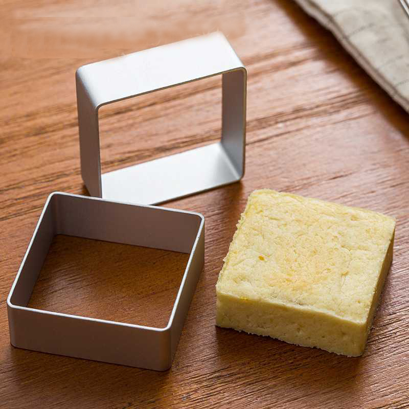 Mini Square Shaped Cookie Cutters Metal Mold Fondant Cake Mould Biscuit Jelly Baking Bakeware Tool Moulds
