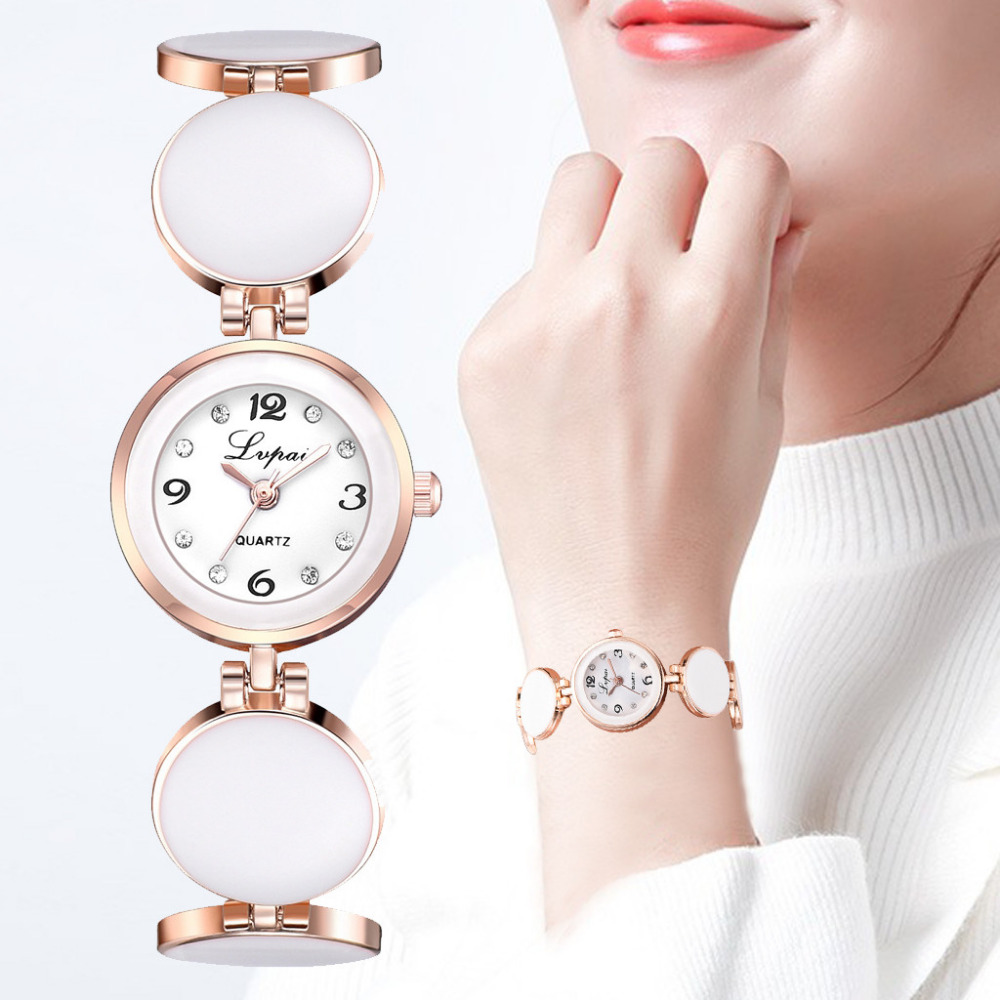 Simple Casual Ladies Watch Fashion Round Dial Steel Strap Bracelet Watch Women Quartz Wristwatch Small Dial Clock Kol Saati #W