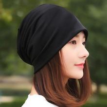 Hats Scarf-Cap Beanies Spring Winter's-Hat Longkeeper Girl Cotton Women Ladies Casual