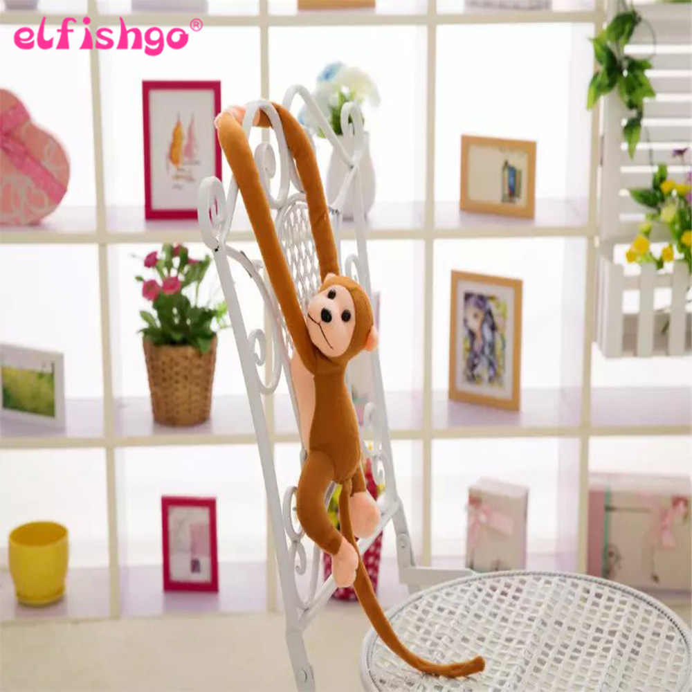 60 см Kawaii длинные руки хвост обезьяны мягкая плюшевая кукла игрушки шторы для спокойного детского сна животного кукла, подарок на день рождение