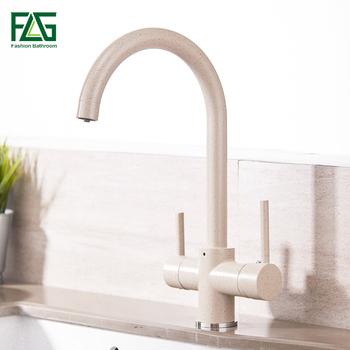 FLG Kitchen Faucet With Tap For Drinking Water 3 Way kitchen faucet with filtered water Cold and Hot Kitchen Faucet Mixer Taps gappo kitchen faucet with filtered water faucet tap kitchen sink faucet filtered faucet kitchen crane mxier taps torneira