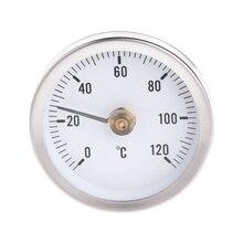 AIMOMETER Pipe Clip-On Dial Thermometer Temperature Bimetal Temp Gauge & Spring 63mm 120 Centigrade Z1019