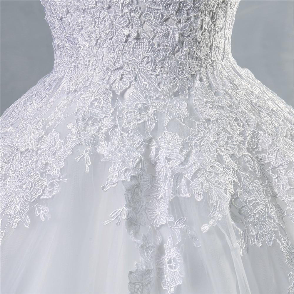 ZJ9036 2016 vestido de encaje blanco marfil con cordones en la - Vestidos de novia - foto 5
