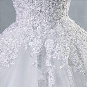 Image 5 - ZJ9036 lace Branco Marfim Vestidos de Casamento Vestido de Renda acima para trás Croset 2019 para a noiva plus size maxi Cliente fez tamanho 2 26 W