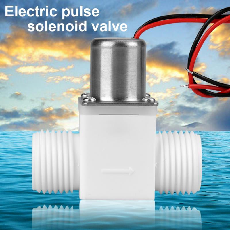 Ventil Sanitär Professioneller Verkauf Magnetventil Durable Kunststoff Wasser Ventil 1/2 dc 3,6 V Wasser Control Elektrische Pulse Magnetventil Zubehör Tapones Valvula 100% Hochwertige Materialien