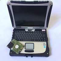 2018 High quality Toughbook CF19 CF 19 laptop Toughbook for Panasonic CF 19 Support work for SD C3 C4 C5 alldata diagnostic tool