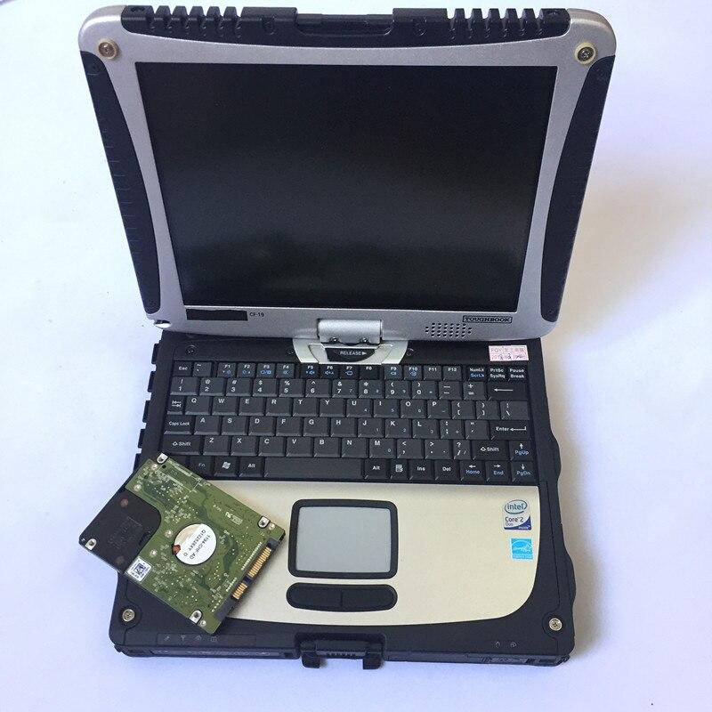 2019 Haute qualité Toughbook CF19 CF-19 ordinateur portable Toughbook pour Panasonic CF 19 Soutien travail pour SD C3 C4 C5 alldata outil de diagnostic