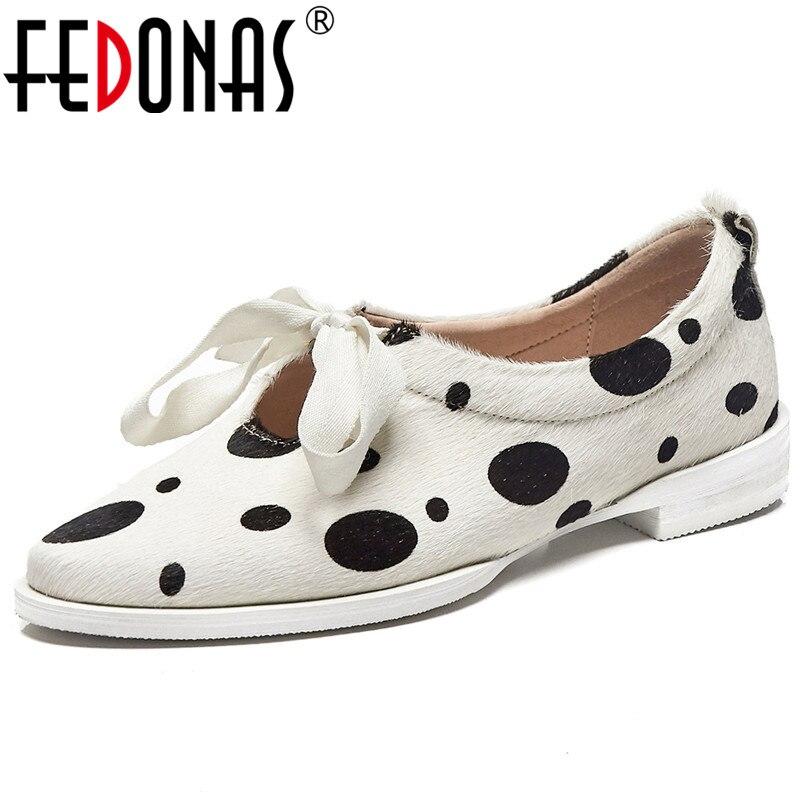 FEDONAS Marke Frauen Polka Dot Rosshaar Qualität Pumpen Dicken High Heels Bowtie Party Tanzen Schuhe Frau Neue Frühjahr Grund Pumpen-in Damenpumps aus Schuhe bei  Gruppe 1