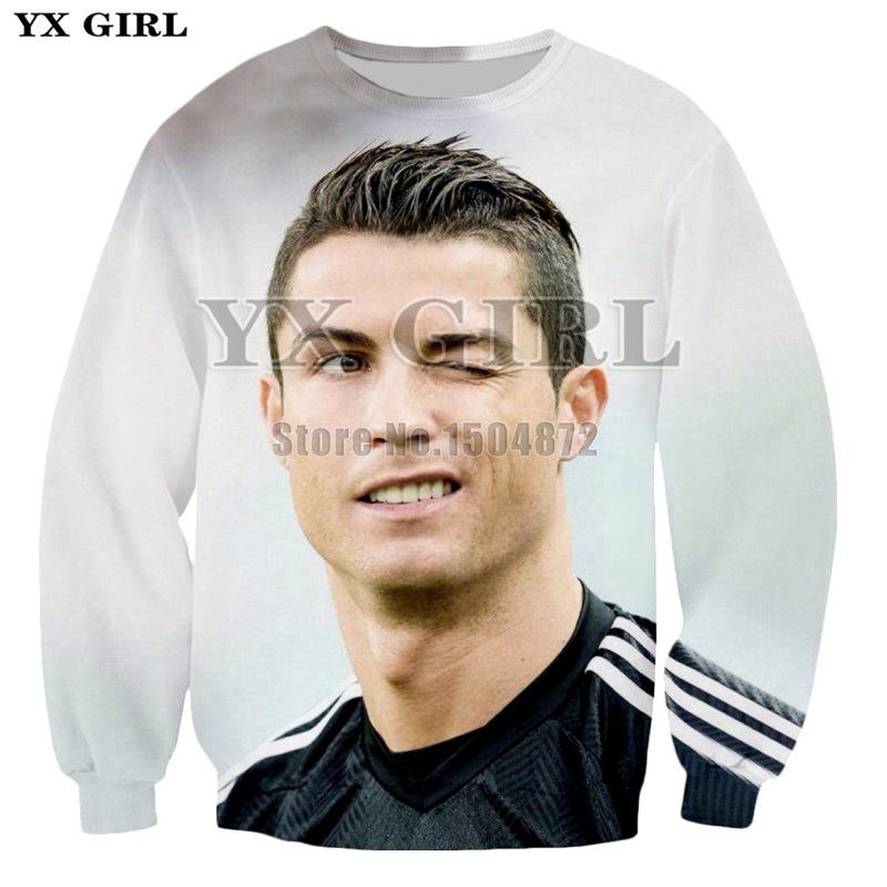 Hoodies & Sweatshirts Ronaldo 7 Cr7 Luminous Printed Mens Long Sleeve Hoodie Funny Men Women Couple Cotton Sportswear Sweatshirts Tops Pullover