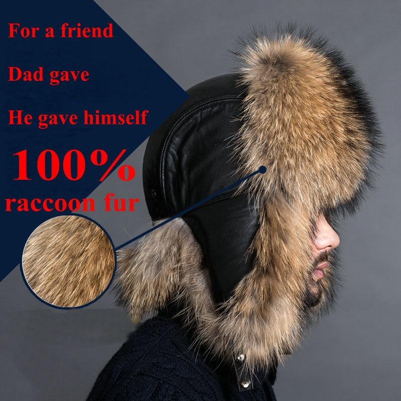 2019 BARU Warna Alami Topi Bulu Gaya Siberia Topi Bulu Rakun Topi - Aksesori pakaian - Foto 5