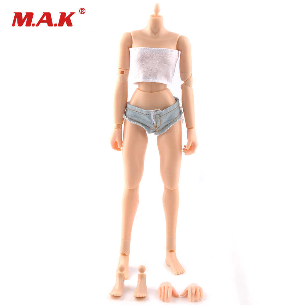 1/6 Scale Female Body Action Figure Small Breast Fits for 1:6 Head Sculpt