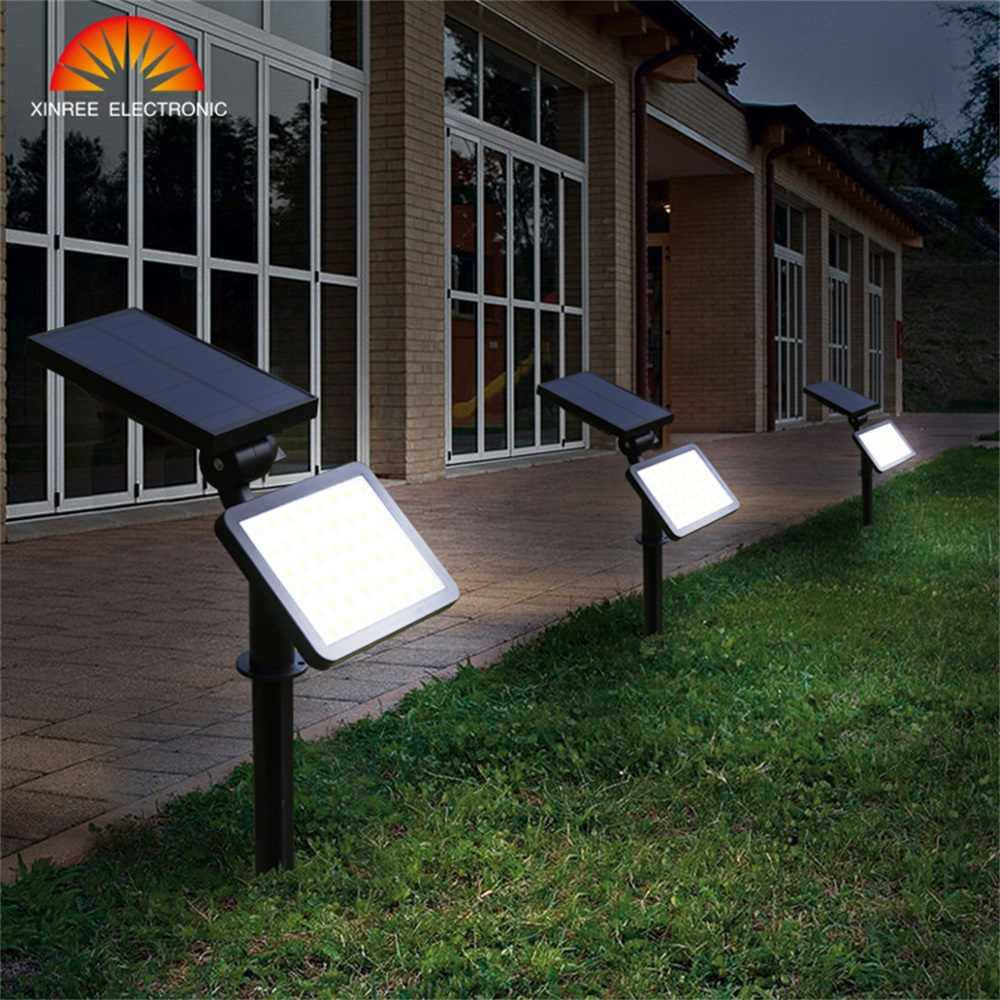 2 шт. 48 Светодиодный Солнечный свет открытый сад супер яркий двойного использования прожектор на солнечных батареях уличная дорожка солнечный свет для газона Настенный светильник водонепроницаемый