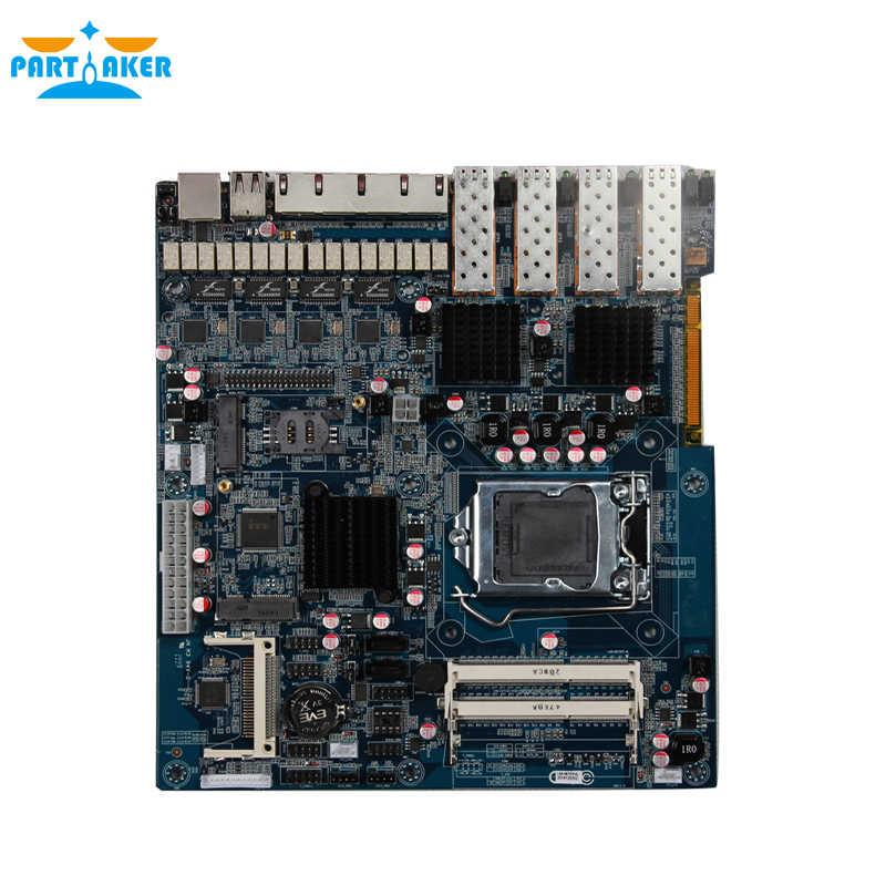 Mikrotik Server with Intel I3 4130 2G RAM 8G SSD 4 Gigabit Ethernet 4 Optical Router PARTAKER R20