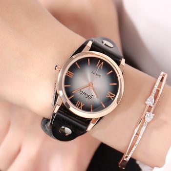 JBAILI Brand Casual Women Watch Fashion reloj mujer Red Dress Watches Quartz Clock Ladies Leather Wristwatch Relogio Feminino