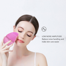 NEW battery Facial Cleansing Brush Sonic Vibration Mini Face Cleaner Silicone Deep Pore Cleaning Electric Waterproof Massage