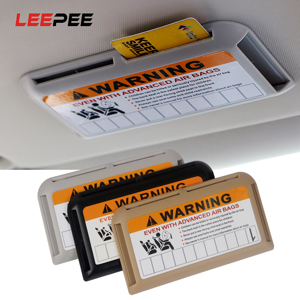 LEEPEE Car-styling Auto Sun Visor Organizer For Temporary Parking Phone Number Clip High-Speed IC Card Holder Stowing Tidying