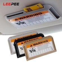 LEEPEE Organizer per visiera parasole Auto styling per parcheggio temporaneo numero di telefono Clip porta carte IC ad alta velocità stivaggio riordino