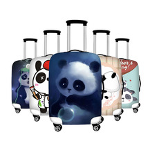 Купить с кэшбэком luggage cover protective suitcase cover travel accessories case for suitcase minions panda print design covers for trolley