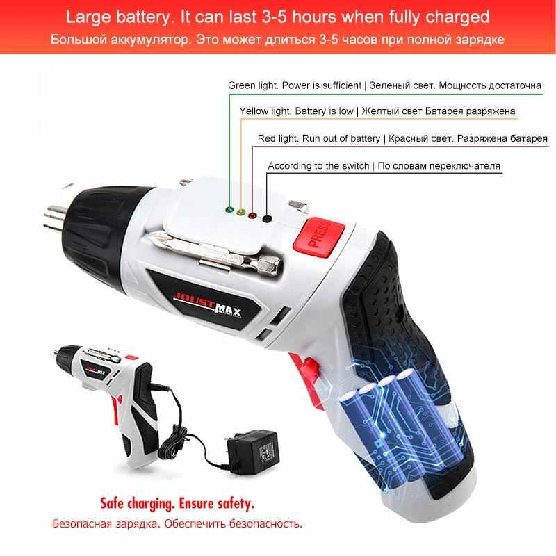 4.8 V Mini Obeng Listrik dengan Lampu LED Cordless Rumah Tangga Baterai Isi Ulang 45 Bit Multi-Fungsi Power Alat Dremel